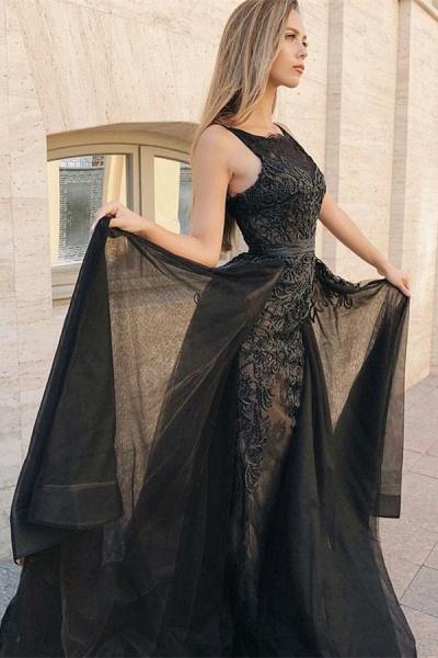 Excellent Jewel Appliques Mermaid Prom Dress_2