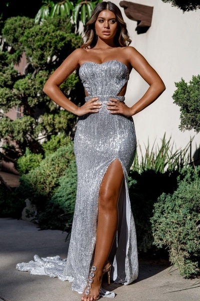 Attractive Sweetheart Sequined Mermaid Prom Dress_2
