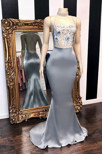 Sexy Sequins Sleeveless Mermaid Prom Dresses | Glitter 2021 Halter Red Evening Gowns_1