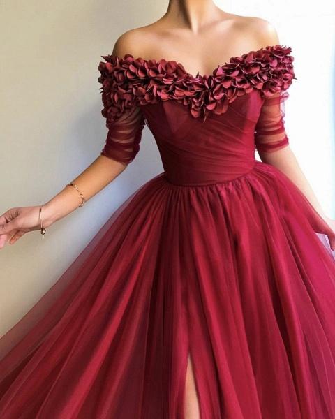 Glorious Off-the-shoulder Appliques A-line Prom Dress_4