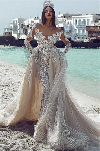 Wonderful V-neck Appliques Ball Gown Prom Dress_1
