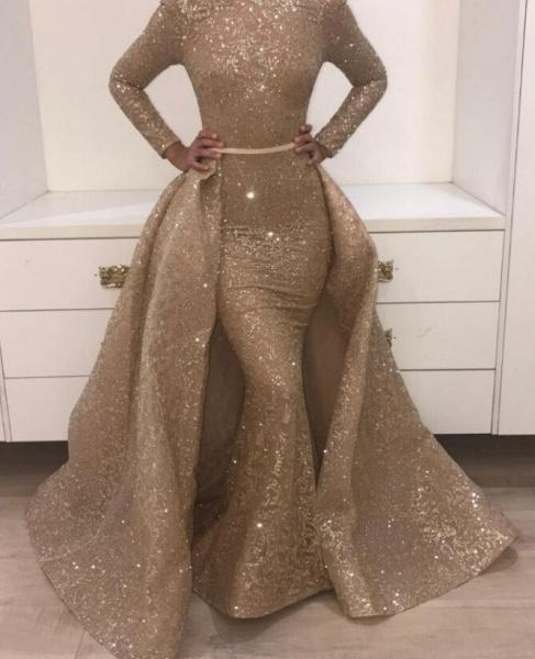 Marvelous Jewel Satin Two Pieces Prom Dress_1