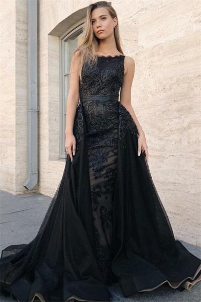 Excellent Jewel Appliques Mermaid Prom Dress_1