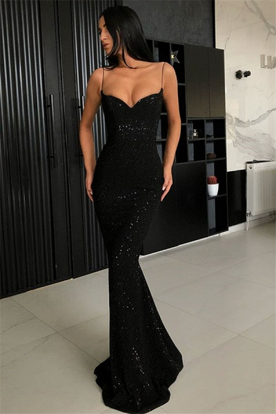 Elegant Sweetheart Sequined Column Prom Dress_1