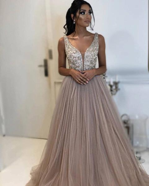Precious Straps Appliques A-line Prom Dress_2