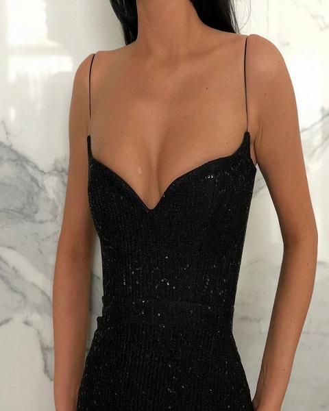 Elegant Sweetheart Sequined Column Prom Dress_2