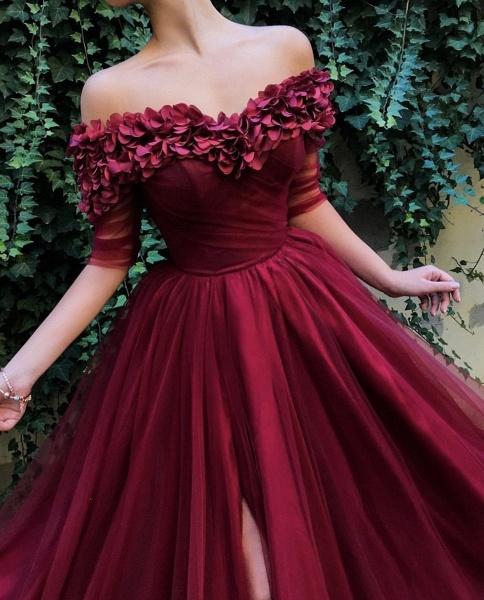 Glorious Off-the-shoulder Appliques A-line Prom Dress_3