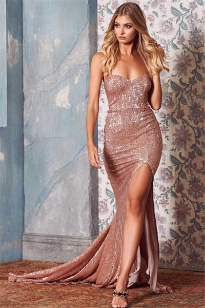 Amazing Sweetheart Sequined Mermaid Prom Dress_1