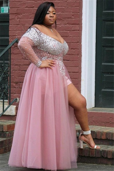 Fascinating Off-the-shoulder Appliques A-line Prom Dress_2