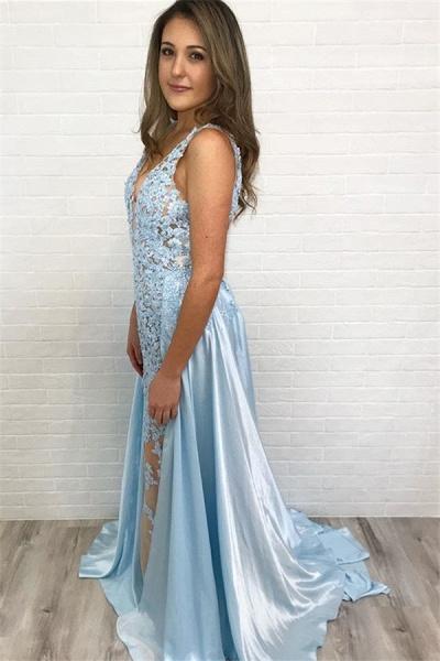 Best Straps Lace A-line Prom Dress_2