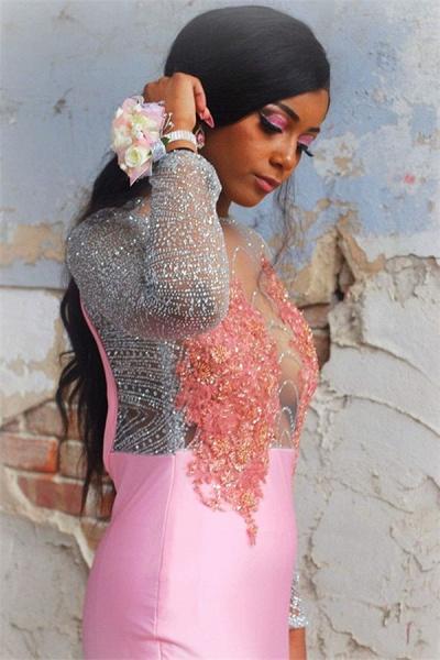 Fascinating Jewel Appliques Mermaid Prom Dress_3