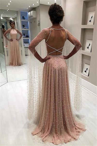 Wonderful Jewel Beading A-line Prom Dress_1