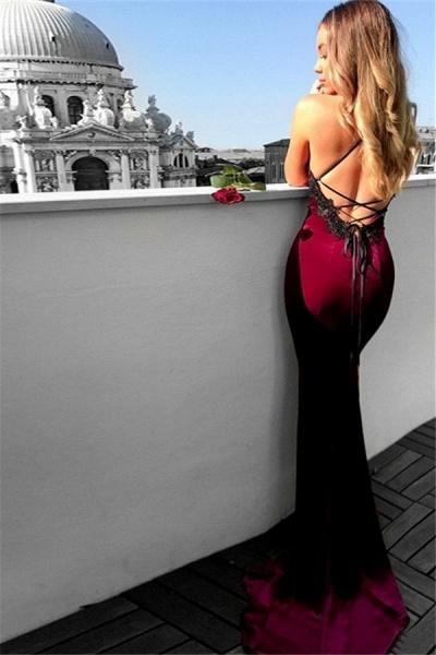Latest Halter Satin Mermaid Prom Dress_2