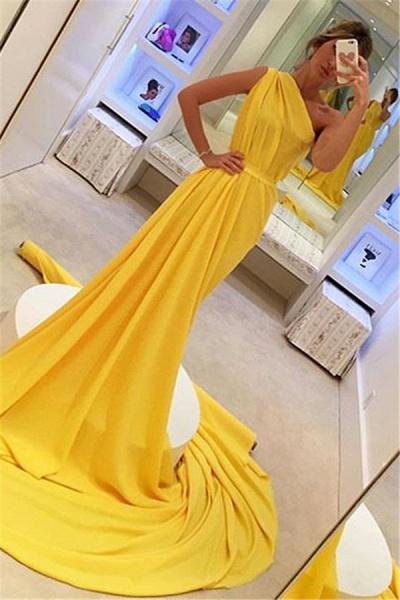 Graceful One Shoulder Ruffles A-line Prom Dress_1