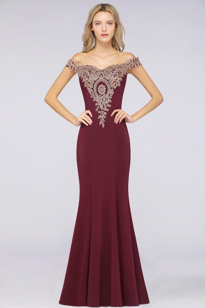 Elegant Bateau Healthy Mermaid Evening Dress_33