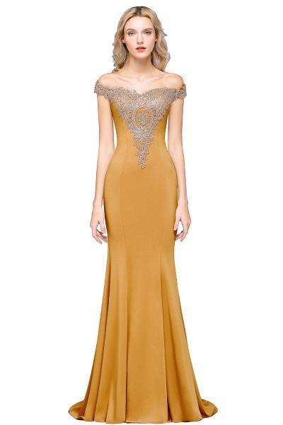 Elegant Bateau Healthy Mermaid Evening Dress_9