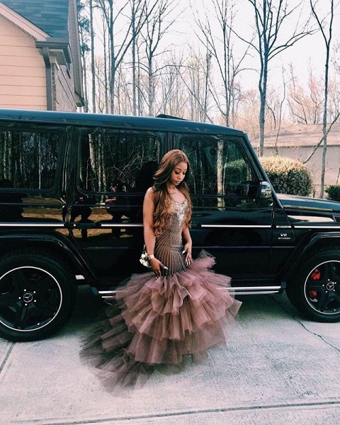 Best Straps Appliques Mermaid Prom Dress_4