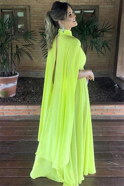Elegant High Neck A-line Prom Dress_2