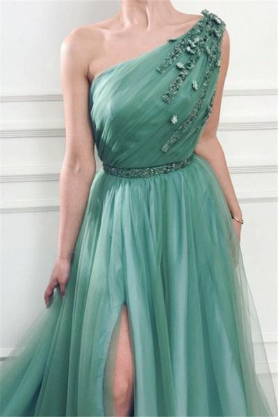 Precious One Shoulder Appliques A-line Prom Dress_3