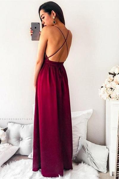 Sleek Halter Sequined A-line Prom Dress_3