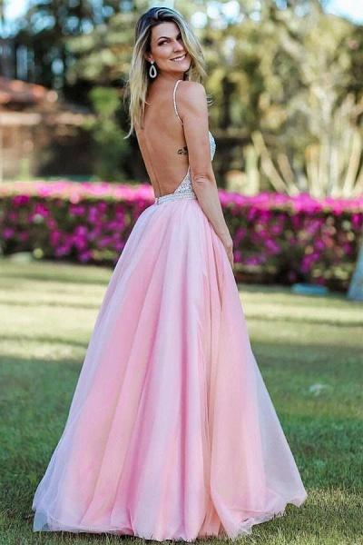Wonderful Spaghetti Straps Appliques A-line Prom Dress_2
