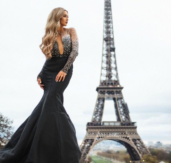 Marvelous Jewel Appliques Mermaid Prom Dress_4