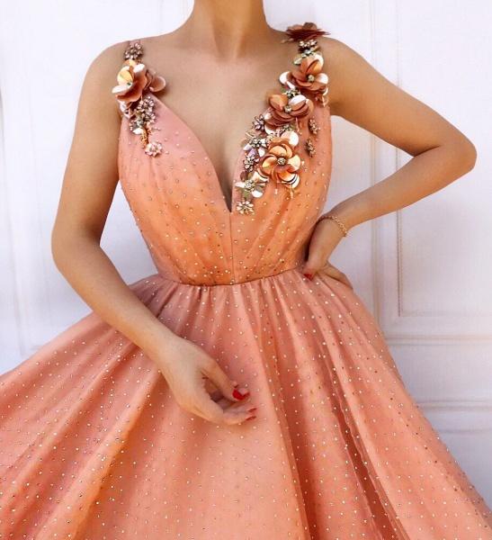 Fascinating Spaghetti Straps Appliques A-line Prom Dress_2