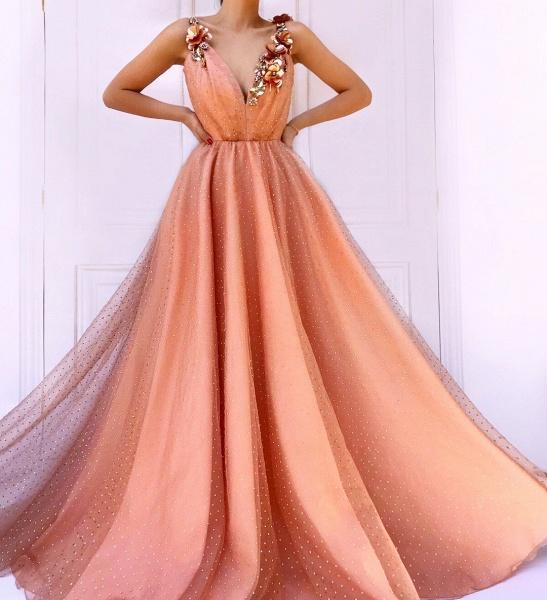 Fascinating Spaghetti Straps Appliques A-line Prom Dress_3