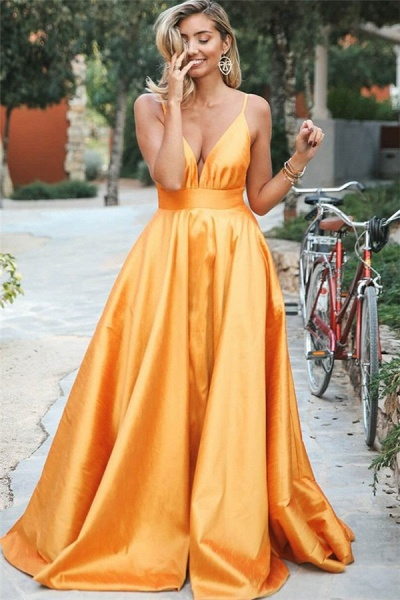 Wonderful Spaghetti Straps Ruffles A-line Prom Dress_1