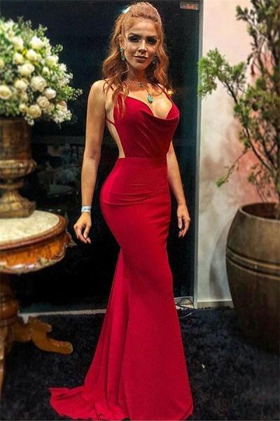 Wonderful Spaghetti Straps Mermaid Prom Dress_1