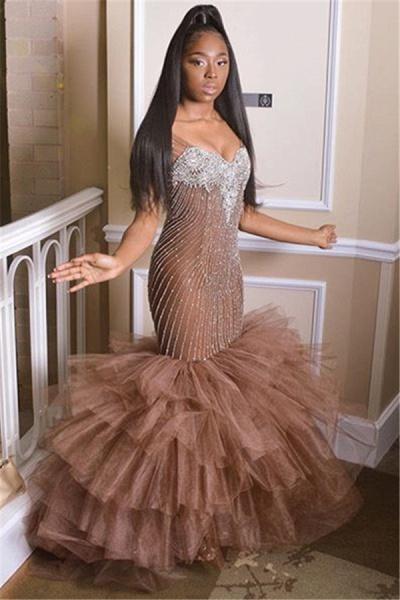 Best Straps Appliques Mermaid Prom Dress_1