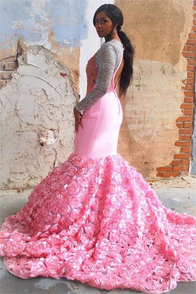 Fascinating Jewel Appliques Mermaid Prom Dress_2