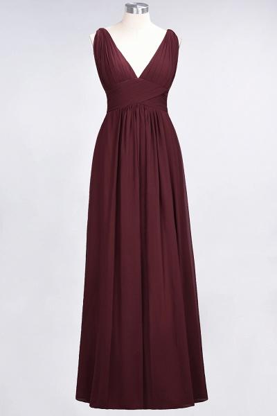 A-Line Chiffon V-Neck Sleeveless Floor-Length Bridesmaid Dress with Ruffle_10