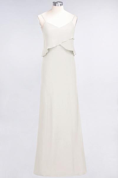 A-Line Chiffon Spaghetti-Straps V-Neck Sleeveless Floor-Length Bridesmaid Dress_2