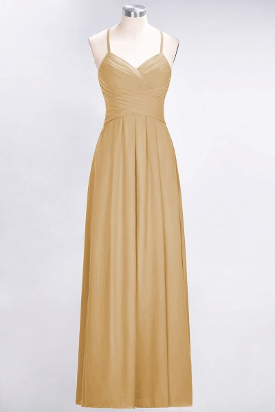 A-Line Chiffon Halter V-Neck Sleeveless Floor-Length Bridesmaid Dress with Ruffles_13