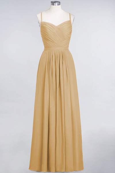 A-Line Chiffon Spaghetti-Straps Sweetheart Sleeveless Floor-Length Bridesmaid Dress with Ruffles_13