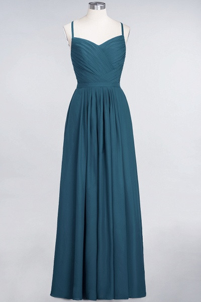 A-Line Chiffon Spaghetti-Straps Sweetheart Sleeveless Floor-Length Bridesmaid Dress with Ruffles_26