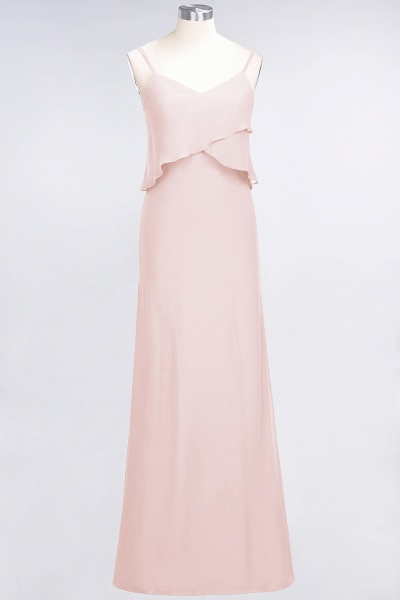 A-Line Chiffon Spaghetti-Straps V-Neck Sleeveless Floor-Length Bridesmaid Dress_5