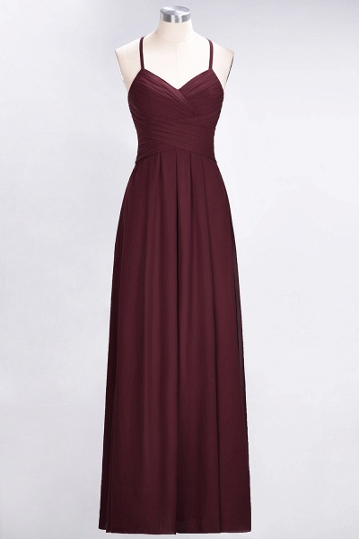 A-Line Chiffon Halter V-Neck Sleeveless Floor-Length Bridesmaid Dress with Ruffles_10