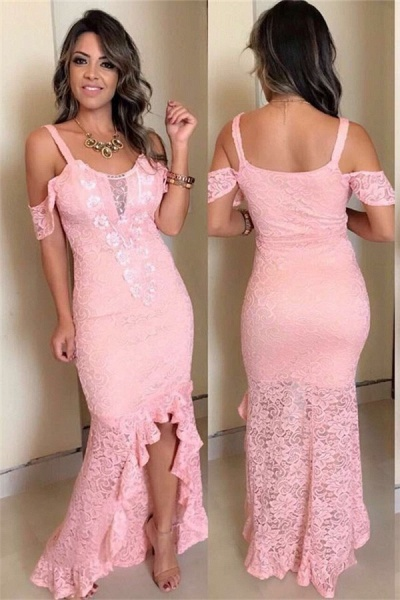 Amazing Off-the-shoulder Appliques Mermaid Prom Dress_1