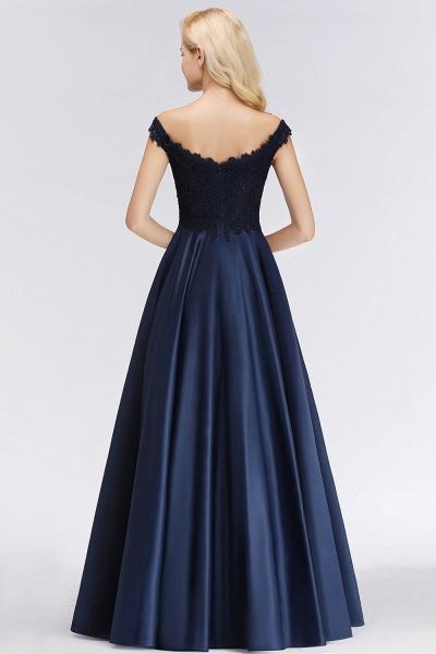 BM0067 Elegant Off-the-Shoulder Ruffles Beads Sleeveless Bridesmaid Dress_3