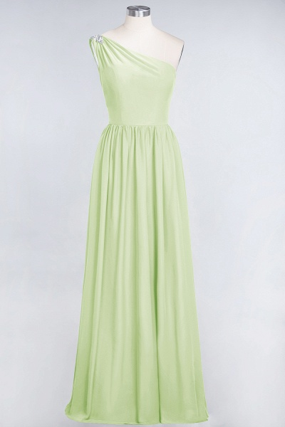 A-Line Chiffon One-Shoulder Sleeveless Ruffles Floor-Length Bridesmaid Dress with Beadings_33