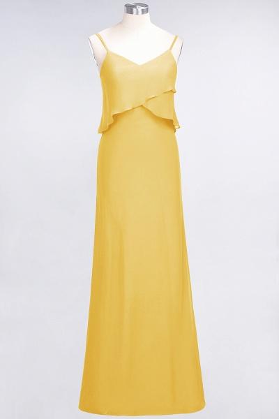 A-Line Chiffon Spaghetti-Straps V-Neck Sleeveless Floor-Length Bridesmaid Dress_16