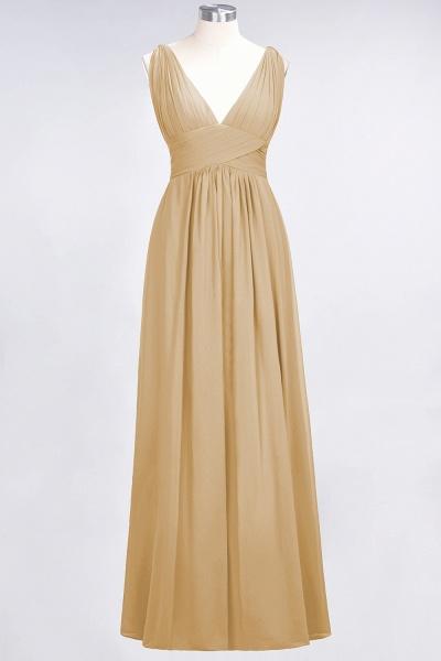A-Line Chiffon V-Neck Sleeveless Floor-Length Bridesmaid Dress with Ruffle_13