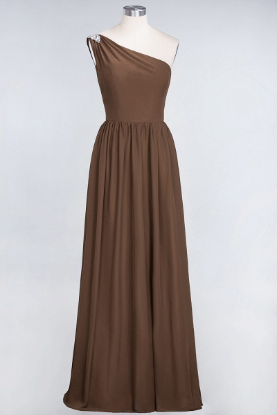 A-Line Chiffon One-Shoulder Sleeveless Ruffles Floor-Length Bridesmaid Dress with Beadings_12