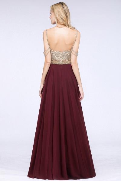 BM0761 Appliques Spaghetti Straps A-line Bridesmaid Dress_4