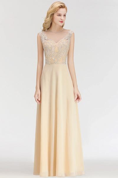 BM0074 Elegant A-Line Champagne Sleeveless Crystal Jewel Bridesmaid Dress_3