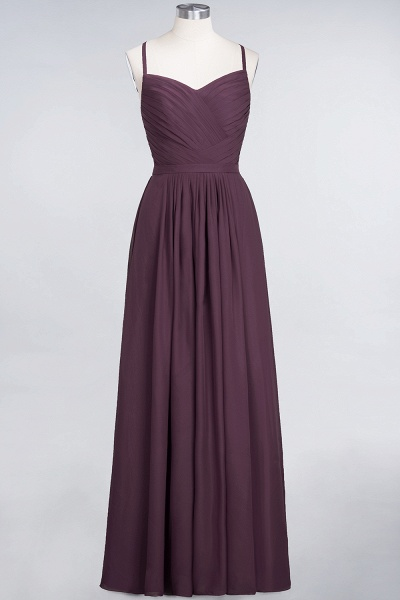 A-Line Chiffon Spaghetti-Straps Sweetheart Sleeveless Floor-Length Bridesmaid Dress with Ruffles_19