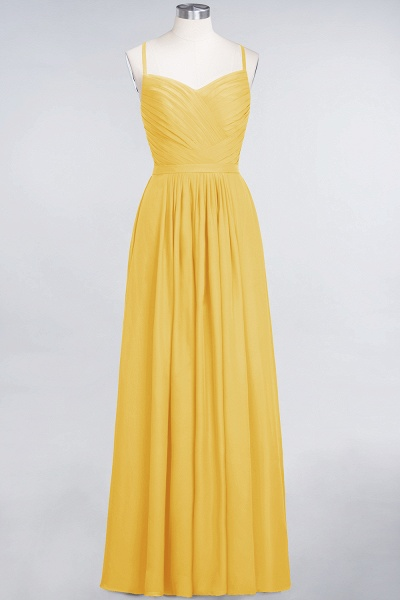 A-Line Chiffon Spaghetti-Straps Sweetheart Sleeveless Floor-Length Bridesmaid Dress with Ruffles_16