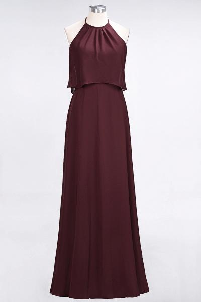 A-Line Chiffon Jewel Sleeveless Floor-Length Bridesmaid Dress_10